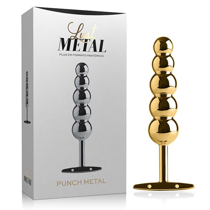 Lust Metal Plug Punch 15,3 X 3,2CM Metal Silver