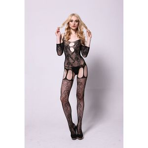 Bodystocking Espartilho Rendado