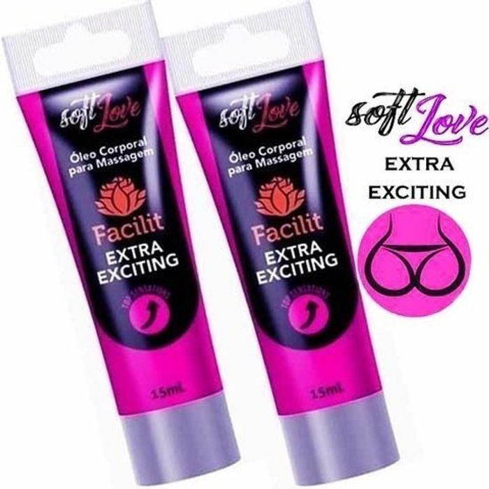 Anestésico Facilit Bisnaga Extra Exciting 15gr Soft Love