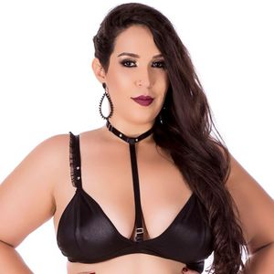 TOP PLUS SIZE CINQUENTA TONS MAIS ESCUROS HOT FLOWERS