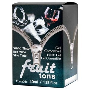 Fruit 50 Tons Gel Comestível Hot Vinho Tinto 40ml INTT