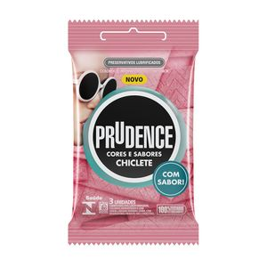 Preservativo Chiclete Prudence 3 unidades