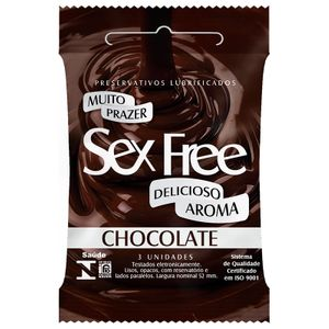 PRESERVATIVO SEX FREE BASIC 3 UNIDADES CHOCOLATE