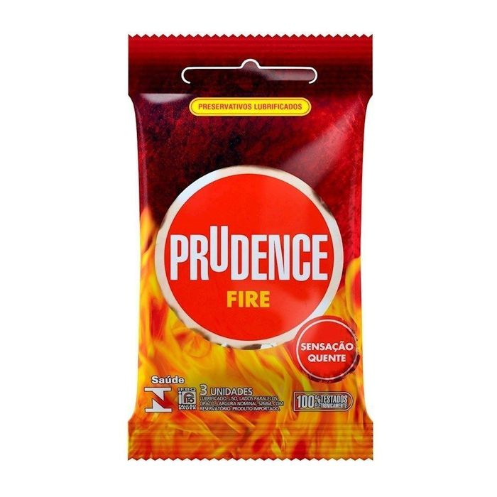 PRESERVATIVO FIRE PRUDENCE 3 UNIDADES