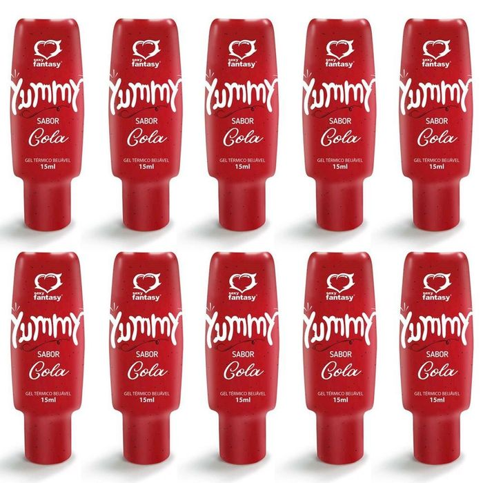 PACK 10 YUMMY COCA COLA GEL COMESTÍVEL 15ML SEXY FANTASY