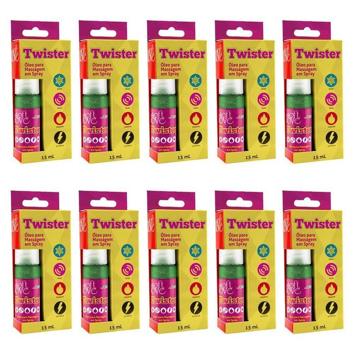 Pack 10 Unidades Twister Funcional Jatos 5x1 15ml Soft Love