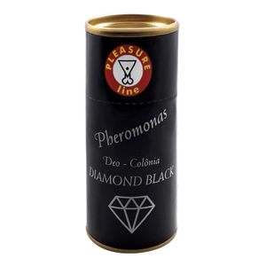 DEO COLÔNIA MASCULINA DIAMOND BLACK 20ML PLEASURE LINE