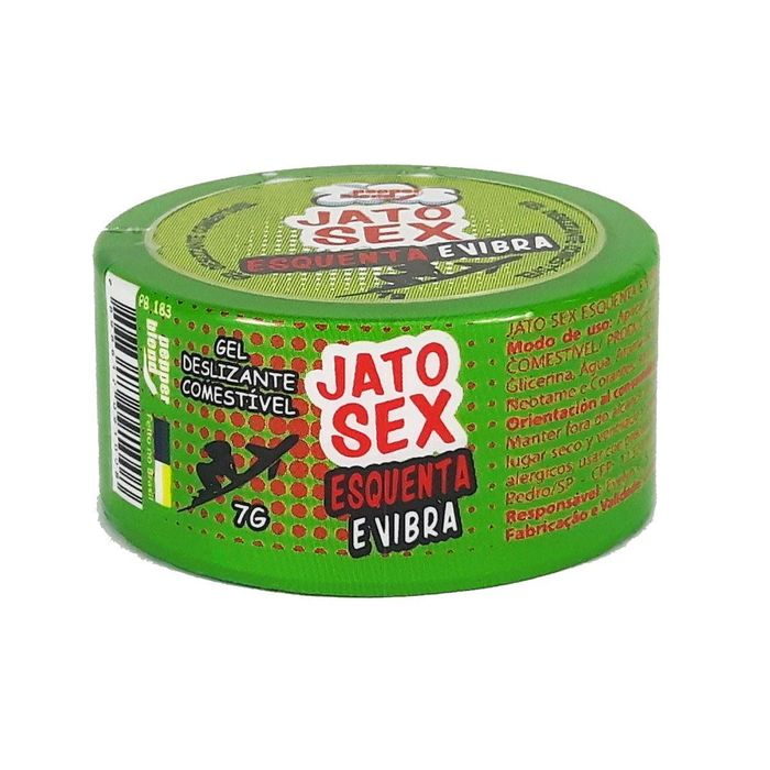 Gel Comestível Jato Sex Esquenta E Vibra 7g Pepper Blend