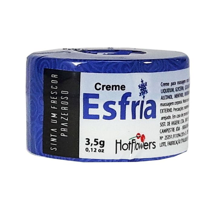 Esfria Creme Excitante Unissex 3,5gr Hot Flowers
