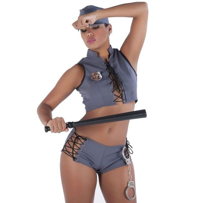 Kit Fantasia Policial Short Amareto