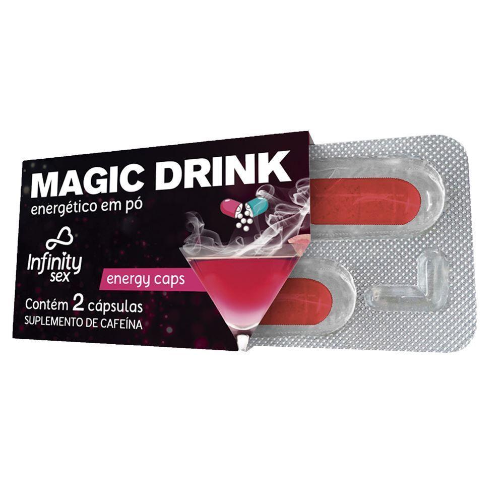 Magic Drink Energético Em Pó Com 2 Cápsulas Infinity Sex
