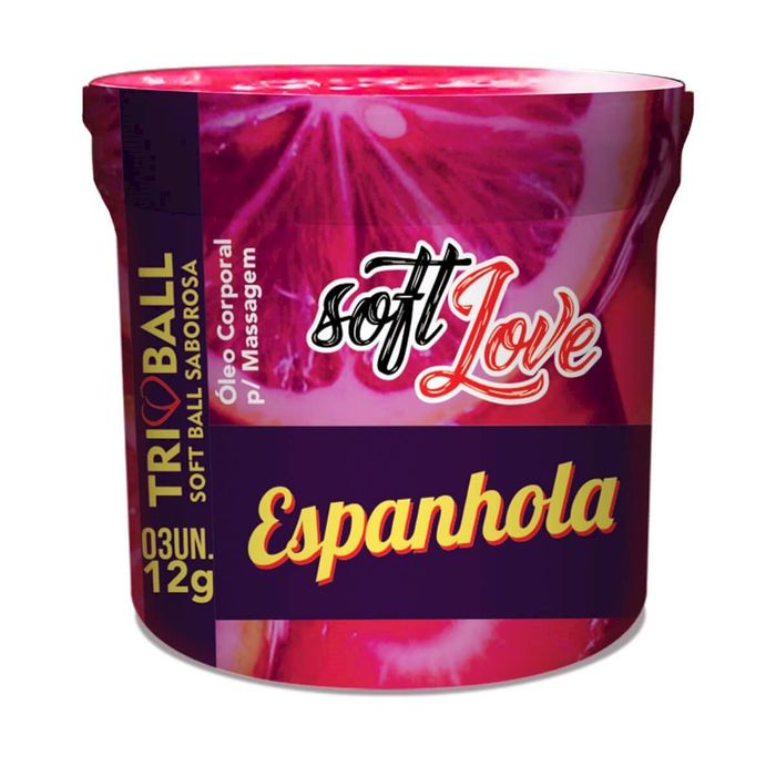 Soft Ball Triball Espanhola 12gr 03 Unidades Soft Love