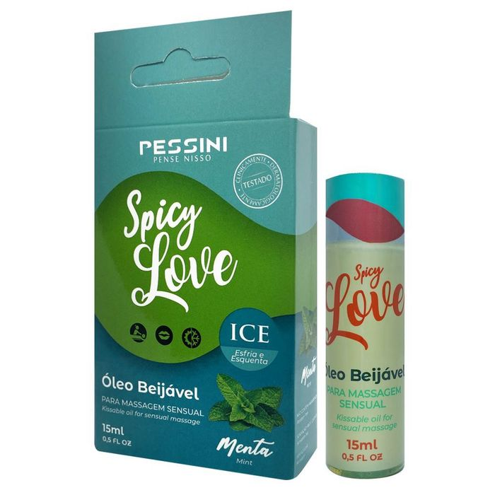 Gel Comestével Spicy Love Esquenta E Esfria 15ml Pessini