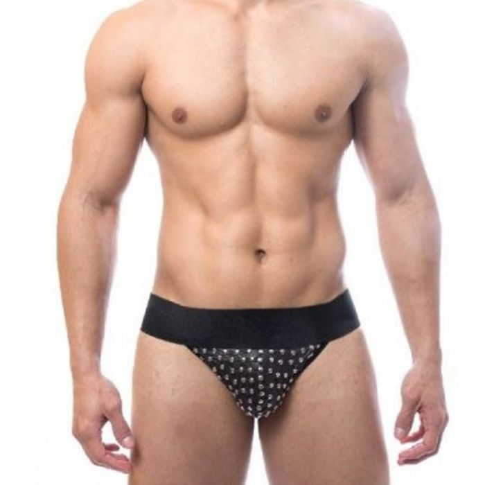 Cueca Jock Tachinhas Preto Sd Clothing