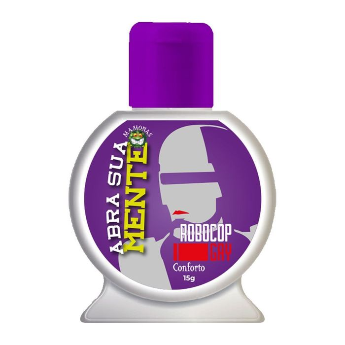 Abra Sua Mente Robocop Gay Gel Anal Confort 15gr Pepper Blend