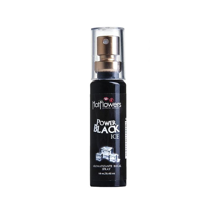 Power Black Ice Spray Aromatizante Bucal 18ml Hot Flowers