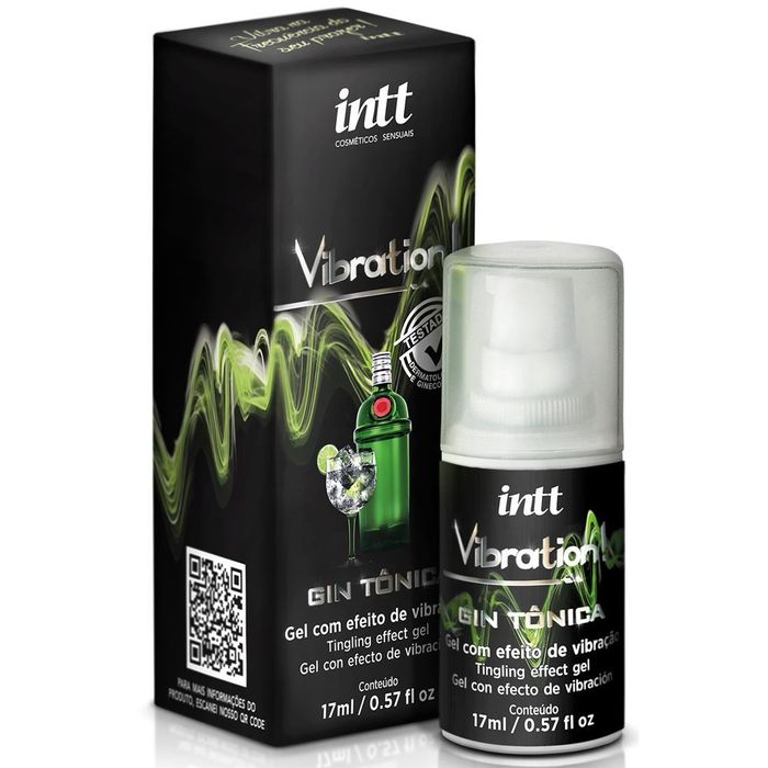 Vibration Gel Excitante Feminino Gin Tônica 17ml Intt
