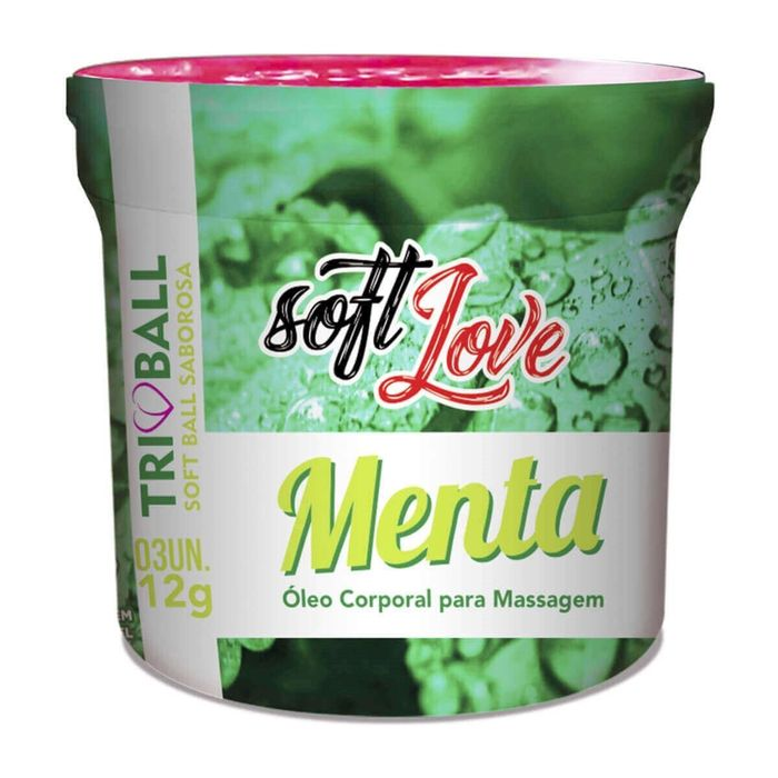 Soft Ball Triball Menta 12gr 03 Unidades Soft Love