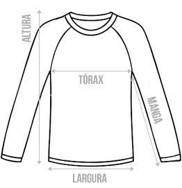 Raglan Camiseta Manga Longa