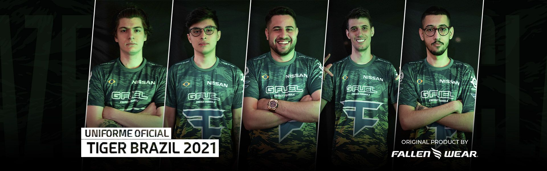 Uniforme FaZe Clan Tiger Brazil 2021