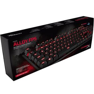 TECLADO GAMER HYPERX ALLOY FPS CHERRY MX RED US - HX-KB1RD1-NA/A4