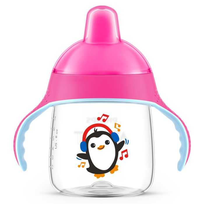 COPO PINGUIM 260ML ROSA - AVENT