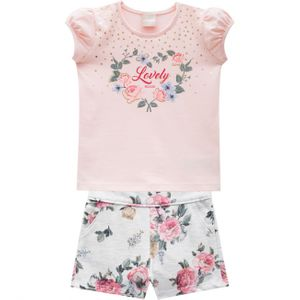 CONJUNTO LOVELY  FEMININO DO 01 AO 08 -  MILON