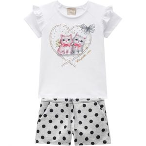 CONJUNTO PETS LOVE FEMININO DO 01 AO 03 - MILON
