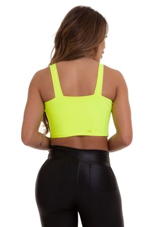 TOP CROPPED MADRID VERDE FLUOR