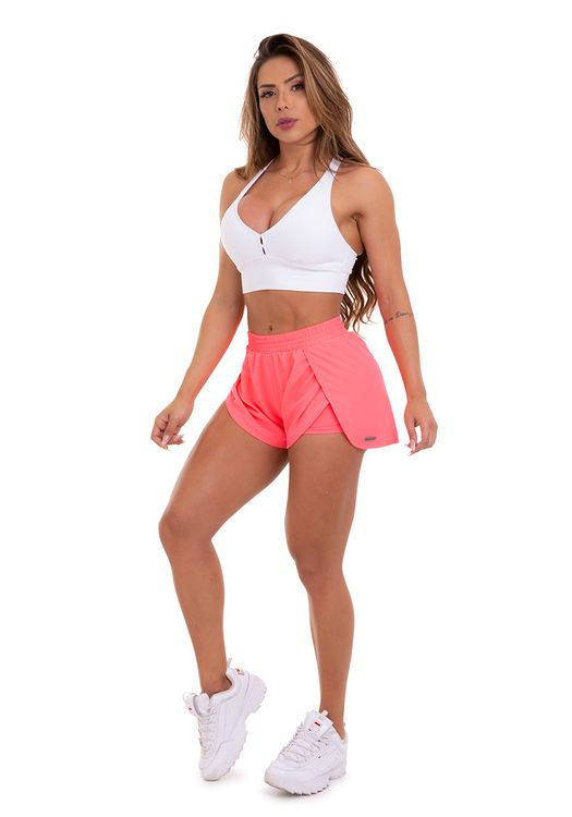 SHORTS CUPRO CORAL FLUOR
