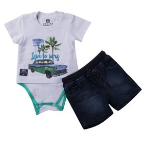 CONJUNTO BODY CAMISETA LIVE TO SURF
