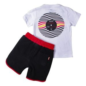 CONJUNTO CAMISETA MOLETINHO ROCK DAYS