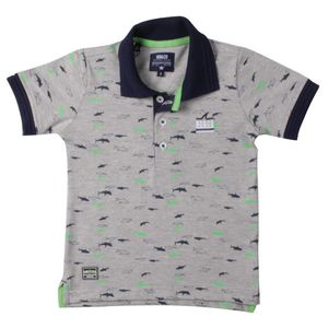 POLO PIQUET ESTAMPADO SHARK