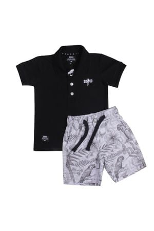 CONJUNTO POLO PIQUET BIRDS