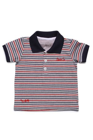Polo Masc Piquet Listrado Summer