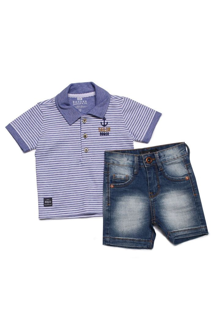 Conjunto Polo Piquet Sailor