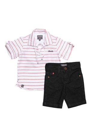 CONJUNTO BATA RED STRIPE