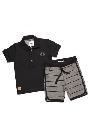CONJUNTO POLO PIQUET BLACK SUN