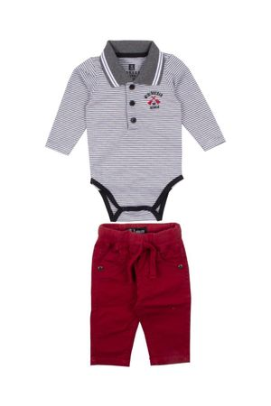 Conjunto Body Polo Mini Rocker