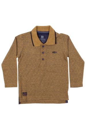 Polo Mini Jacquard Ocre
