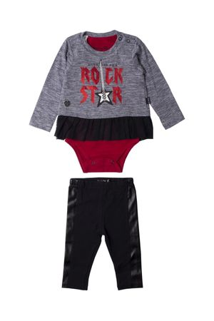Conjunto Body-blusa E Legging Rock Star