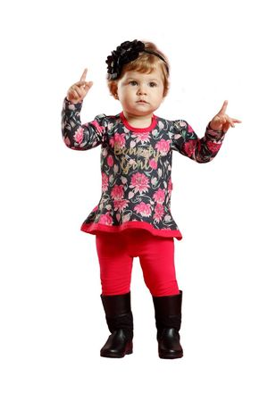 Conjunto Body Bata Com Legging Beauty Girl
