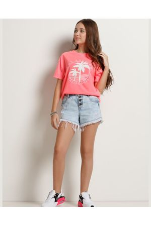 Shorts Jeans Cintura Alta Every Day