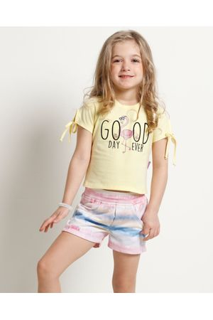 Conjunto Blusa E Shorts Moletom Good Day Ever