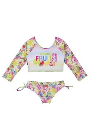 Kit Cropped Manga Longa Fruits