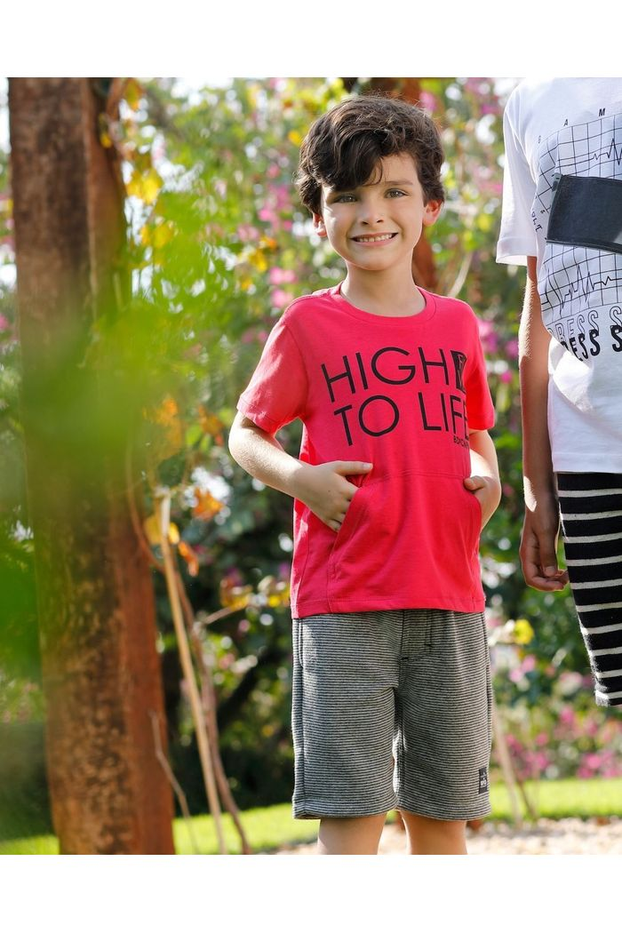 Conjunto Camiseta Moletinho High Five