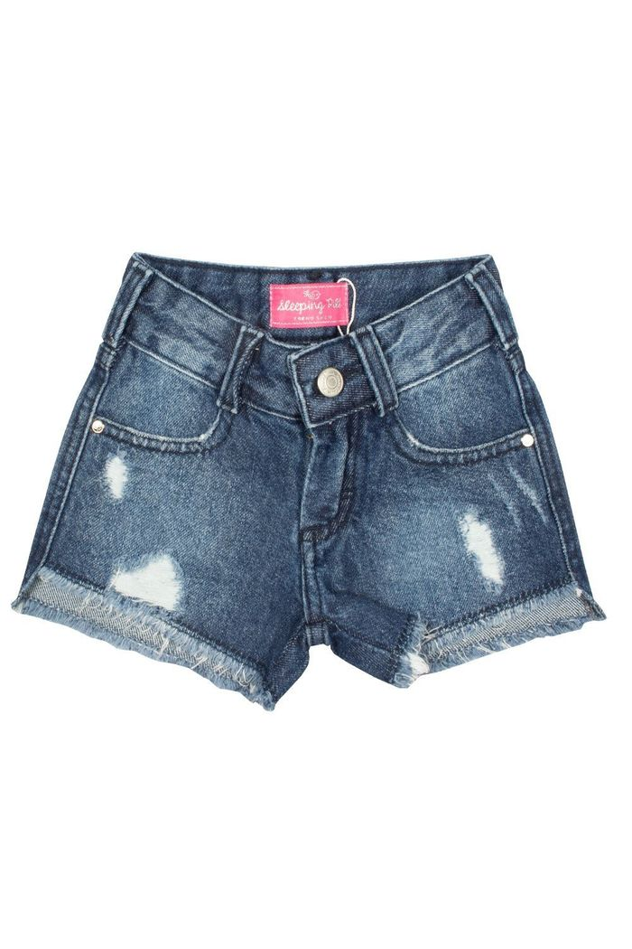 Shorts Jeans Avulso Basic Escuro