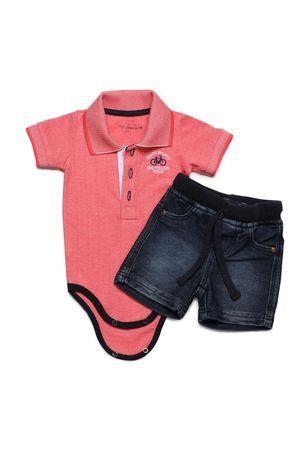 Conjunto Masc Body-polo E Bermuda Bicycle