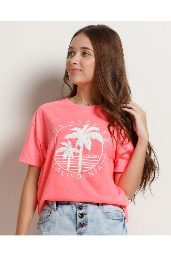 Blusa Oversized Neon Palm