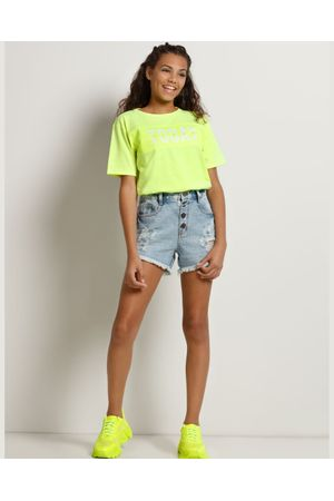 Blusa Cropped Over Sized Neon